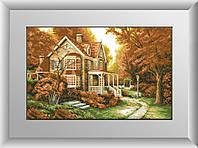 Вышивка камнями Dream Art Осенняя легенда (полная зашивка, квадратные камни) (DA-30219) 47 х 74 см