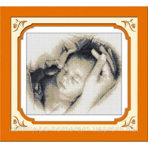 Вышивка камнями Dream Art Материнская любовь (полная зашивка, квадратные камни) (DA-30241) 27 х 33 см