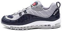 Мужские кроссовки Image of Supreme x Nike Air Max 98 Blue/White