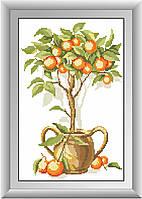 Вышивка камнями Dream Art Апельсиновое дерево (полная зашивка, квадратные камни) (DA-30274) 26 х 40 см