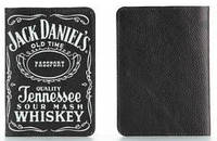 """Обложка на паспорт из мягкой кожи """"Jack Daniel's"""""""