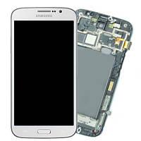 Дисплейный модуль (экран + сенсор) Samsung i9200 Galaxy Mega 6.3 белый с рамкой (оригинал Китай)