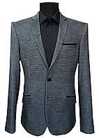 Мужской пиджак приталенный серый № 74/1- Твид 1, фото 1