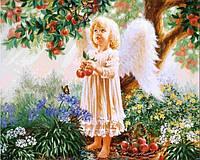 Вышивка камнями Бриллиантовые ручки (на подрамнике) на подрамнике Райське яблуко (GU_198709) 40 х 50 см