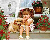 Вышивка камнями Бриллиантовые ручки (на подрамнике) на подрамнике Вона - моя подружка (GU_198718) 40 х 50 см