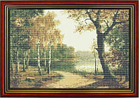 Схема для вышивки бисером «Лесная тропинка у реки»