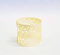 Праздничное кольцо для салфетки Узоры 10шт