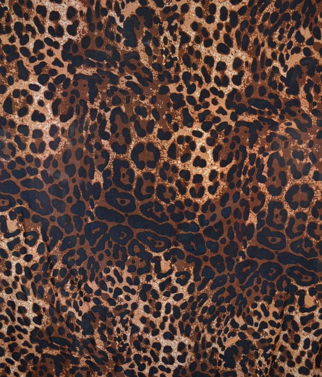 Трикотаж масло леопард