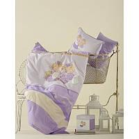 Постельное белье для младенцев Karaca Home - Mini перкаль лиловое