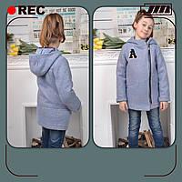 Пальто на девочку, 110-140 см, на утеплённой подкладке. Весна осень, детское, подростковое.
