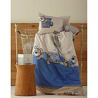 Постельное белье для младенцев Karaca Home - Mr. Pati перкаль голубое