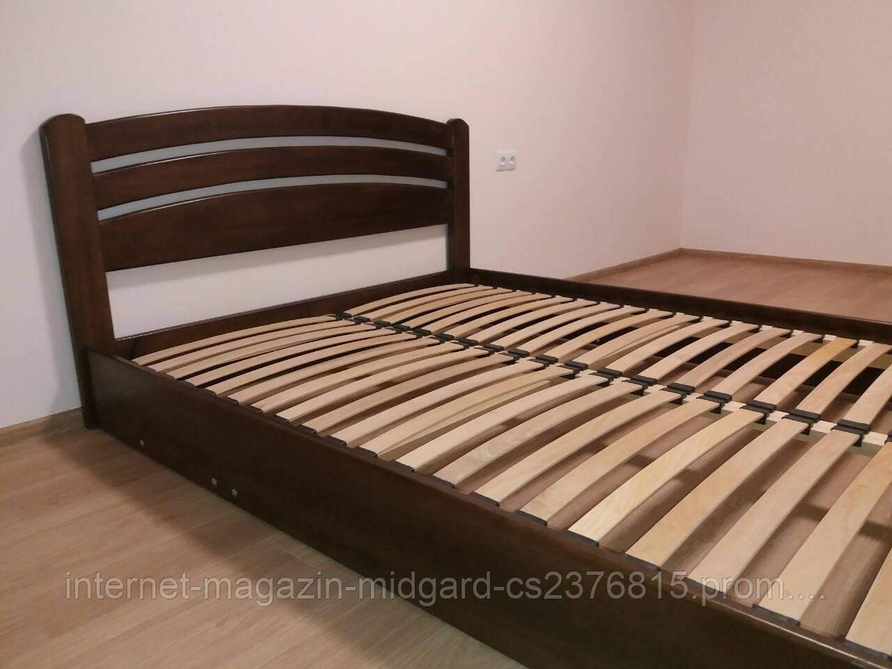 """Двуспальная  кровать """"Ирина""""  массив дерева ясень"""