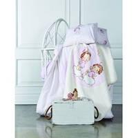 Постельное белье для младенцев Karaca Home - Bulut ранфорс розовое