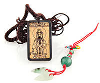 Кулон амулет с изображением китайского бога из кости яка