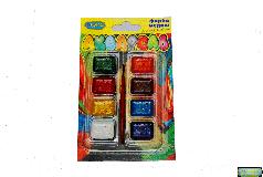"""Краски медовые """"Акварель"""" 8 цветов с кисточкой в блистере  02888"""