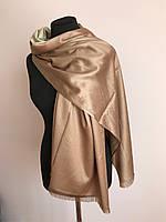 Двусторонний плотный женский шарф палантин