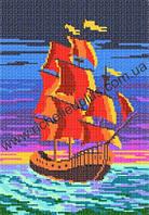 Схема для вышивки бисером «Алые паруса»