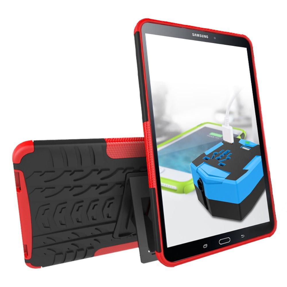 Чехол накладка силиконовый Tyre Pattern для Samsung Tab A 10.1 T580 T585 2016 красный