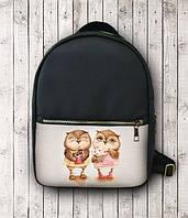 Рюкзак из кожзама Совушки 146