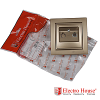 ElectroHouse Розетка телефонная золотой Enzo EH-2112-LG