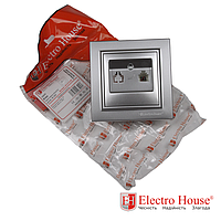 ElectroHouse Розетка телефонная серебро Enzo