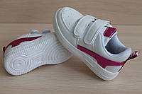 Белые кроссовки слипоны для девочки серия спортивная обувь тм JG р.28,30,31