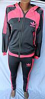 Женский спортивный костюм ADIDAS,розовый,купить оптом спорт.костюм женский со склада,238 SKJ-0016