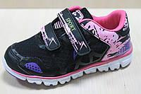 Кроссовки на липучках для девочки на белой подошве тм Том.м р. 33,34