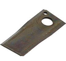 Нож роторной косилки BALMET правый 107x48x4Ø18.5 Vicon 90261560