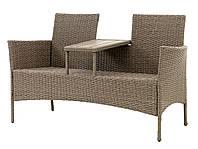 Лавка со столиком для двоих из ротанга Two Мебель для сада