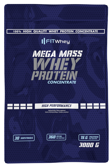 Fit Whey Mega Mass Whey Protein Concentrate 3 kg