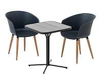 Комплект садовой мебели для сада и кафе  (2 кресла и столик на ножке)