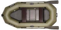 Лодка надувная Bark Двухместная гребная, реечный настил, комплект