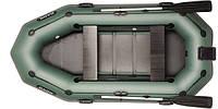 При заказе -7% Лодка надувная Bark Трехместная гребная, привальный брус, 4 ручки, реечный настил, навесной транец, комплект
