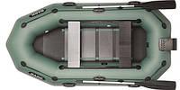 При заказе -7% Лодка надувная Bark Двухместная гребная, привальный брус, 4 ручки, реечный настил, навесной транец, комплект
