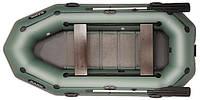 При заказе -7% Лодка надувная Bark Трехместная гребная, привальный брус, 4 ручки, реечный настил, комплект