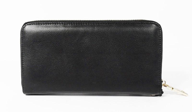 ece1e7c65976 Кошелек кожаный женский на молнии черный Prada 60019- купить по ...