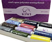 Нитки швейные KIWI №40 (12 катушек) MIX полиэстер