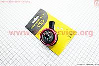 Эксклюзивный велосипедный звонок  механический Компас красный SBL-406  SPELLI