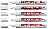 """Маркер белый лак-краска """"Edding"""" Industry Paint e-8750 2-4 мм, фото 1"""