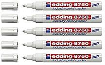 """Маркер белый лак-краска """"Edding"""" Industry Paint e-8750 2-4 мм"""