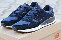 Мужские кроссовки New Balance 530 Encap,темно синие с коричневым / кроссовки мужские Нью Беланс 530 Енкап