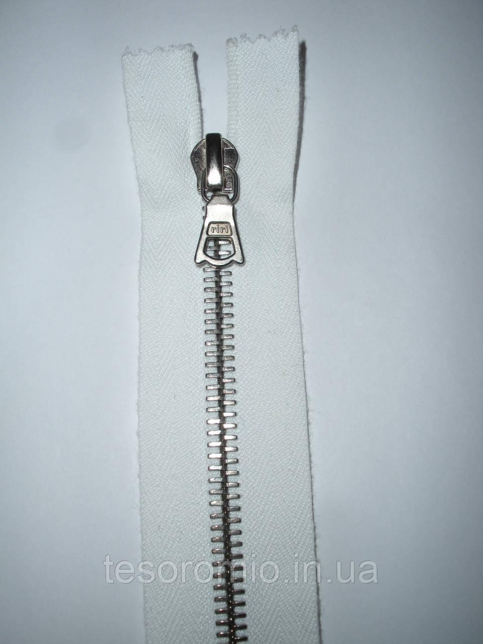 Молния металлическая riri 60см, тип 6, 1 бегунок