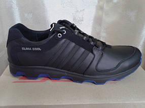 Чёрные мужские кроссовки , натуральная кожа ТМ EXTREM., фото 3