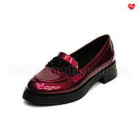 Женские перламутровые туфли лаковые