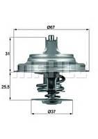 MAHLE ORIGINAL TX 25 87D Термостат VW LT 28-46/T4 2.5TDI
