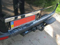 Хром накладки на задний бампер Mercedes Sprinter NEW