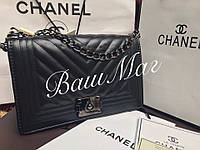Сумка , Клатч  Шанель Chanel Le Boy Шеврон  Черный цвет