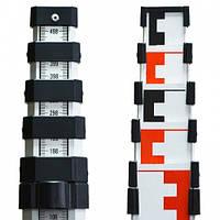 Рейка геодезическая, алюминиевая Nivel System TS-50, 1,23-5,0 м, 1,0 кг