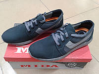 Мужские кросовки из натур. нубука МИДА 110195 серые
